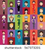 people avatar   with full body... | Shutterstock .eps vector #567373201