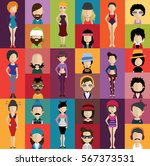 people avatar   with full body... | Shutterstock .eps vector #567373531