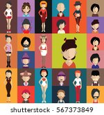 people avatar   with full body... | Shutterstock .eps vector #567373849