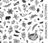 pattern with hand drawn vector... | Shutterstock .eps vector #567373984