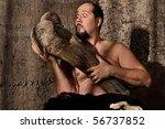 Modern Caveman Staring At...