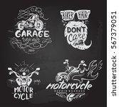 set of vintage motorcycle...   Shutterstock .eps vector #567379051