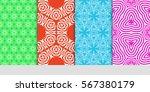 set of seamless decorative... | Shutterstock .eps vector #567380179