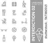 professional thin line icons of ... | Shutterstock .eps vector #567382015