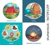 camping design concept square...