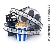 spool film  clipboard and...   Shutterstock . vector #567400339