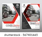 red technology flyer cover... | Shutterstock .eps vector #567401665