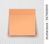 post note paper sheet or sticky ...   Shutterstock .eps vector #567403045