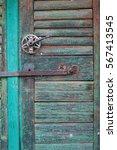detail of beautiful old door | Shutterstock . vector #567413545