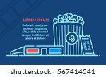 cinema movie poster template.... | Shutterstock .eps vector #567414541