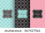 retro chic seamless pattern... | Shutterstock .eps vector #567427561