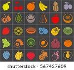 food background vector. food... | Shutterstock .eps vector #567427609