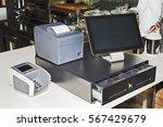 point of sales computer... | Shutterstock . vector #567429679