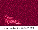 valentine's day background with ... | Shutterstock .eps vector #567431221