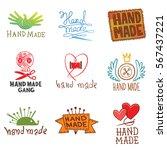 vector set of different emblems ... | Shutterstock .eps vector #567437221