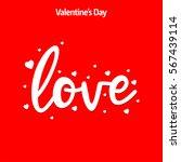 valentine's day poster. happy...   Shutterstock .eps vector #567439114