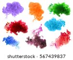 collection of acrylic colors in ... | Shutterstock . vector #567439837