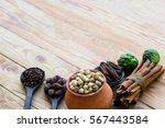 a variety of local herbs | Shutterstock . vector #567443584