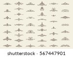 vintage decor elements and... | Shutterstock . vector #567447901