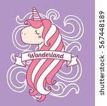 vector illustration of cute... | Shutterstock .eps vector #567448189