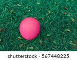 background of pink balloon on... | Shutterstock . vector #567448225