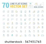 vector graphic set. icons in... | Shutterstock .eps vector #567451765