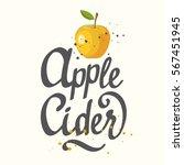 vector illustration with apple... | Shutterstock .eps vector #567451945