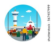 icon airport   view on airplane ...   Shutterstock .eps vector #567457999