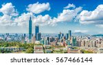 panoramic of taipei city at... | Shutterstock . vector #567466144