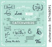 collection of hand drawn... | Shutterstock .eps vector #567468091