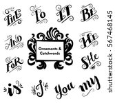 collection of hand drawn... | Shutterstock .eps vector #567468145