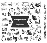 collection of hand drawn... | Shutterstock .eps vector #567468199