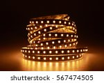 Small photo of Diode strip. Led lights tape close-up