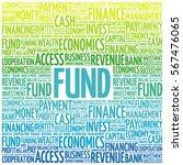 fund word cloud  business... | Shutterstock . vector #567476065