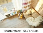 modern interior with sofa ... | Shutterstock . vector #567478081