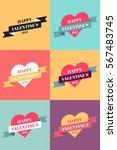 set of hearts vector... | Shutterstock .eps vector #567483745