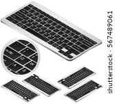 isometric high quality keyboard ... | Shutterstock .eps vector #567489061
