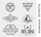 set of logos in the one style. | Shutterstock .eps vector #567495751