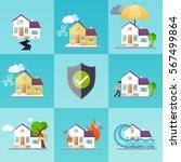 house insurance business... | Shutterstock .eps vector #567499864