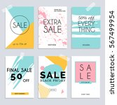 sale website banners web... | Shutterstock .eps vector #567499954