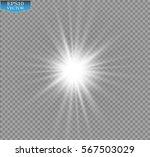 glow light effect. starburst... | Shutterstock .eps vector #567503029