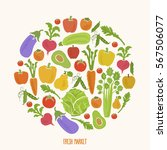 healthy food background fresh... | Shutterstock . vector #567506077