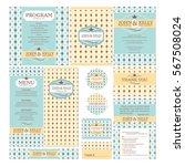set of wedding cards vector...   Shutterstock .eps vector #567508024