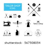 tailor shop icons or logotypes. ... | Shutterstock .eps vector #567508054