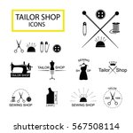 tailor shop icons or logotypes. ... | Shutterstock .eps vector #567508114
