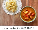 beef mussaman curry eat with... | Shutterstock . vector #567510715
