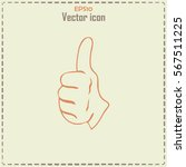 thumbs up icon   vector... | Shutterstock .eps vector #567511225