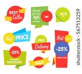 big set of raster label ... | Shutterstock . vector #567513259