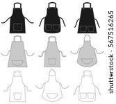 apron set isolated on white | Shutterstock .eps vector #567516265