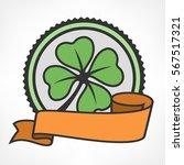 st. patricks day clover. green... | Shutterstock .eps vector #567517321